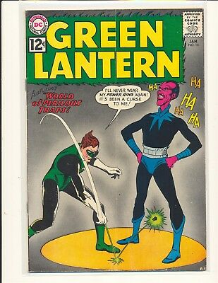 Green Lantern # 18 VG+ Cond. subscription crease