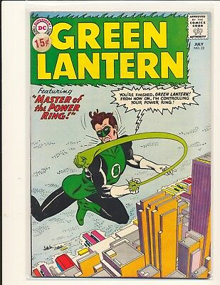 Green Lantern # 22 Fine Cond. price sticker on cover