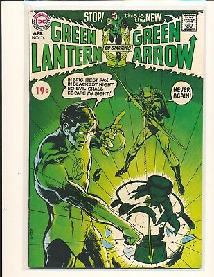 Green Lantern # 76 - Neal Adams cover & art Fine Cond. price sticker on cover