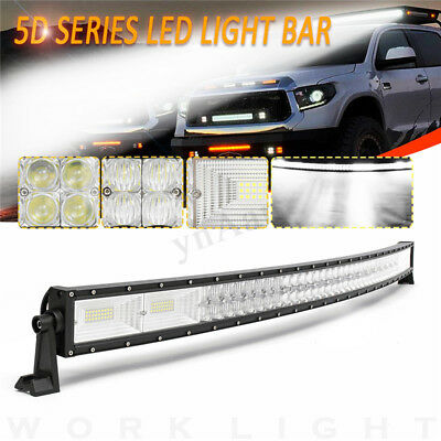 """52"""" Inch 1560W LED 5D Curved Work Light Bar Combo Driving Offroad Lamp Car"""