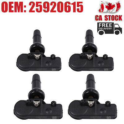 4X TPMS GM Tire Pressure Monitoring Sensors OEM 25920615 For Chevrolet Chevy CA
