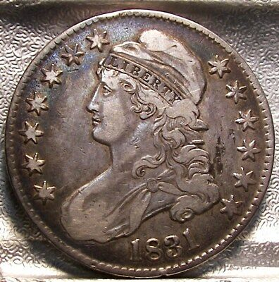 1831 Capped Bust Half Dollar   Circulated Silver