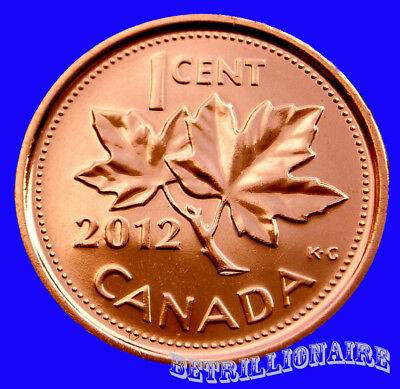 2012 Canada 1 Cent Canadian Penny, Zinc & Non Magnetic. Unc. One Cent.us Seller.