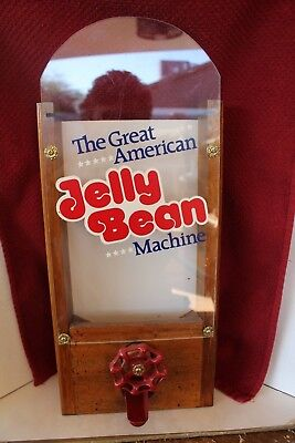 Rare Vintage The Great American Jelly Bean Machine * Wood Jelly Belly Dispenser