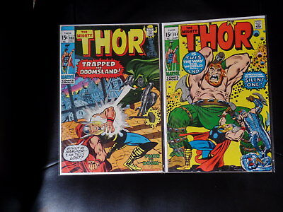 Mighty Thor Two Issue Lot #183 & 184 — Mid Grade — No Reserve