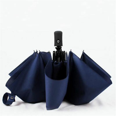 Super Strong Windproof Umbrella Automatic Open/Close Anti Folding Double Canopy