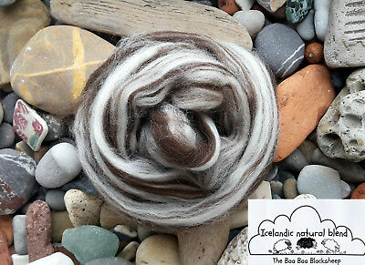100% Shetland Natural Grey 100g Wool Roving / Felting, needle felting