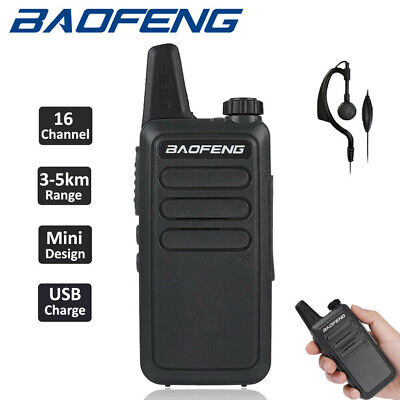 2x Mini Walkie Talkie BF-T3 BAOFENG 3-5KM Two Way Long Range Radio Childs Gifts