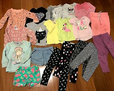 Bulk Bundle Girls Clothes Size 2 Great for Daycare 20 items