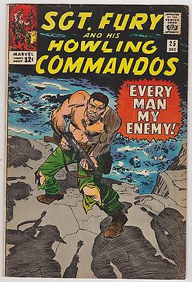 Sgt. Fury and His Howling Commandos #25 - Very Good - Fine Condition'