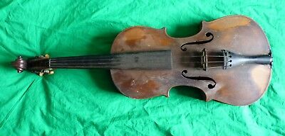 Antique violin with beautiful flamed back – very old instrument
