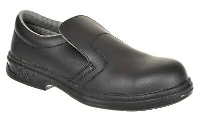 Portwest Steelite™ Slip On Safety Shoe S2 Black Size UK 7 (41) FW81 - Unisex