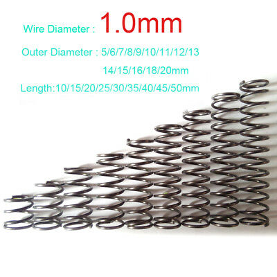 1.0mm Wire Dia. Compression Spring 1.0x5x10mm to 1x20x50mm Various Size Optional