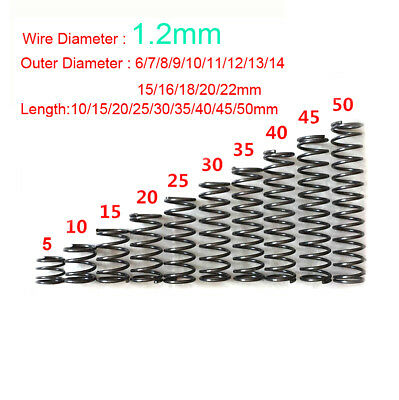 Mini Spring Steel Compression Spring 1.2mm Wire Diameter (6-22mm) Outer Diameter