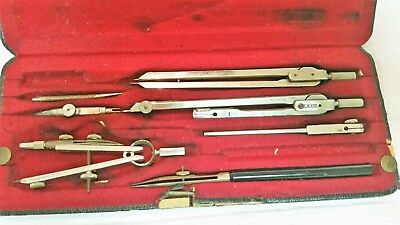 Antique Drafting Set in Case