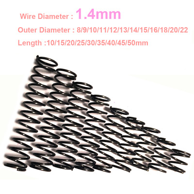 Compression Spring 1.4mm Wire Dia. Various Sizes And Length Pressure Compressed