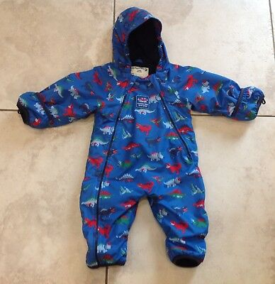 78e54d0e0 JOJO MAMAN BEBE Waterproof Fleece Lined All in One Snowsuit - 6-9 ...