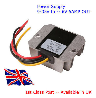DC-DC Converter POWER SUPPLY 12V/24V Down to 6V 5A - 25W Available in UK