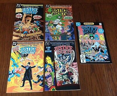 America vs the Justice Society #1-4 FN/VF complete + Last Days Special DC Comics