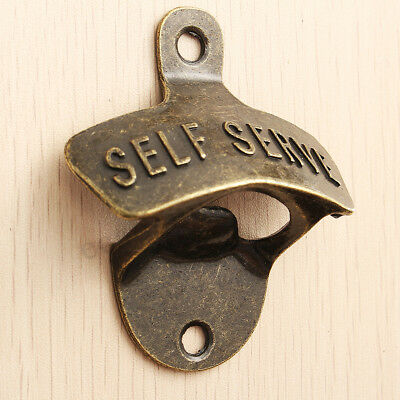 Metal Vintage Rustic Style Collectable Wall Mounted Beer Bottle Opener Bar