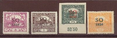 Eastern Silesia, Plebiscite, Overprinted on Czech Stamps, MH, 1920, OLD