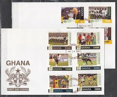 Ghana, Scott cat. 2512-2521. World Cup Soccer issue. 2 First day covers