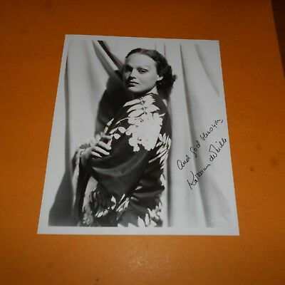 Katherine DeMille was a Canadian-born American actress Hand Signed 8 x 10 Photo