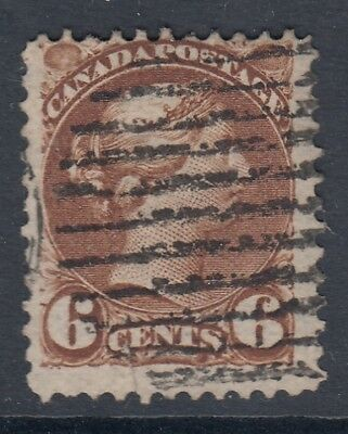 "Canada Scott #39  6 cent yellow brown ""Small Queen"""