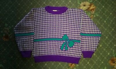 Vintage 80s childs winter jumper