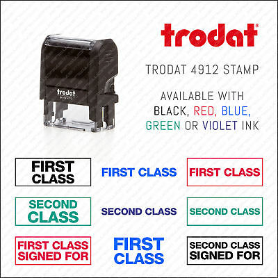 First / Second Class Mail - Signed For - Rubber Stamp Self Inking Trodat 4912
