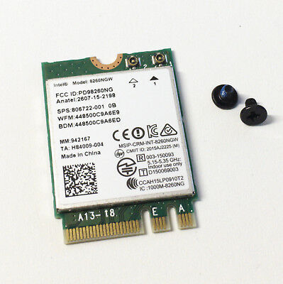 Pro Intel Dualband Wireless-AC 8260 8260NGW NGFF 867MbpsWIFI windows 7 8 10