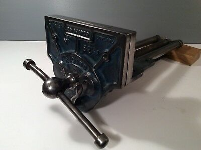 VINTAGE RECORD No 52 1/2 A WOODWORKING  BENCH VICE 9 INCH QUICK RELEASE JAWS