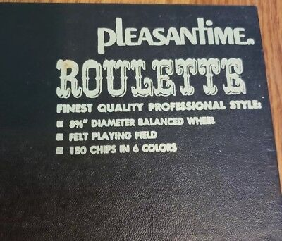 VINTAGE  PLEASANTIME ROULETTE CASINO GAME by PACIFIC GAME COMPANY