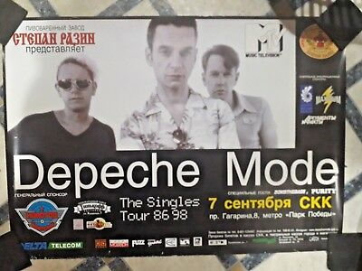 "DEPECHE MODE ""St Petersburg 07.09.98"" (Official 24"" x 34"" ""Singles Tour"" Poster)"