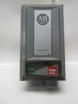 Allen Bradley 609T-AOW Manual Motor Starter Switch & 609-ACW Enclosure 3 Phase