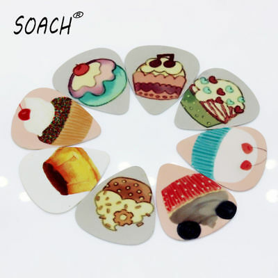Cupcake Cake Food Cute 10pcs  Medium or Thick Guitar Picks New Free Ship Dessert