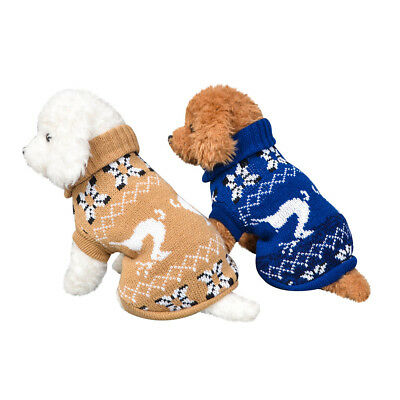 Winter Warm Puppy Clothes Outfit Pet Cat Jacket Coat Sweater For Small Dogs ER