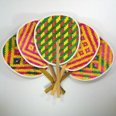 Thai bamboo handmade manual fan for relax of hot weather Hand Fans Vintage Shoes
