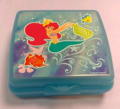 New Disney Little Mermaid TUPPERWARE SQUARE SANDWICH KEEPER CONTAINER Kids Lunch