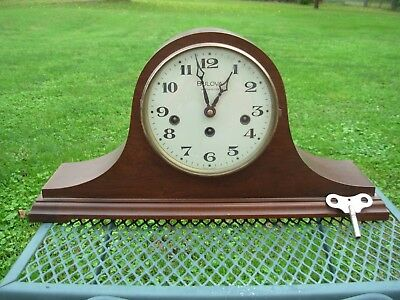 Bulova Mantle Clock w/ Key~Westminster Chime~Made In W. Germany~NICE