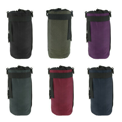 Water Bottle Holder Carrier Sleeve Cover Pouch Bag Drawstring Cycling Hiking