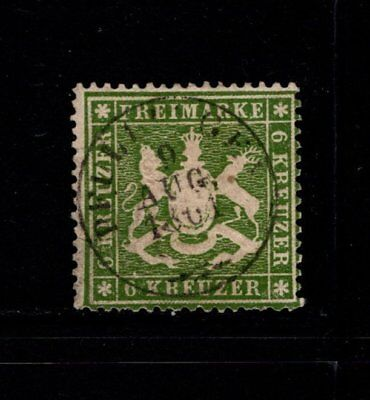 Item No. A5755 – Wurttemberg – Scott # 21 – Used