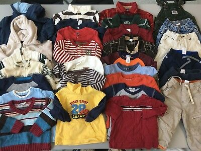 Lot of Boys Clothes 12-18 Months Fall/Winter Sweater Shirts Pants Gap