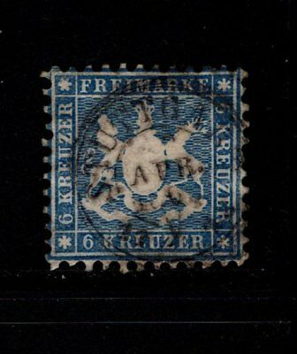Item No. A5760 – Wurttemberg – Scott # 37 – Used
