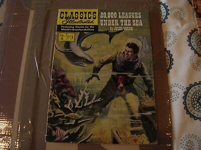 CLASSICS ILLUSTRATED NOS; 2 20,000 leagues under the sea 1st edition