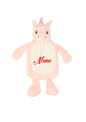 Gift  Embroidery personalised Unicorn hot water bottle cover, CHRISTMAS,