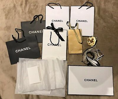 Big Bundle Chanel Packaging Gift Box Bags Tissue Paper Camelia Xmas Wrap