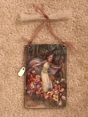 Artist Signed Margaret W Tarrant Fairy Troup Wall/door Knob Hanging...nwt