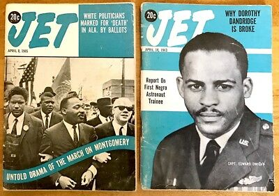 2 Jet Magazines 1963,1965 Martin Luther King Jr. Untold March Montgomery +