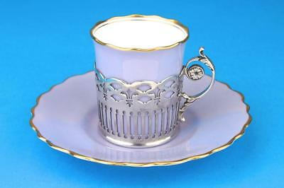 AYNSLEY Lavender ART DECO Coffee Demitasse Cup/Can SILVER Holder HM 1927
